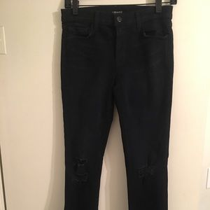 "J Brand ""Blacklash"" Distressed Skinnies"